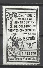 C110-SELLO FISCAL GUERRA CIVIL JUNTA CENTRAL 1 PESETA CAJA DE AUXILIO BENEFICO A