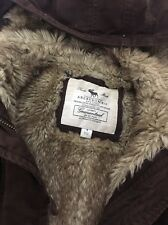 Girls Abercrombie &fitch  Brown Lined Hoody Jacket Size 8