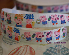 George pig Oink Peppa Pig Cartoon Grosgrain Ribbon Party Cake Bags Gift Wrap 1M
