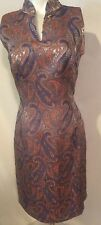 Moshary Nieman Marcus Exclusive Paisley Print Dress Size 6