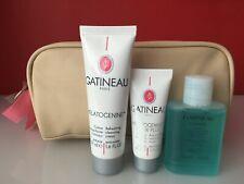 Gatineau Travel Set Floracil Eye & Melatogenine Cream Cleanser & Mask + Bag NEW