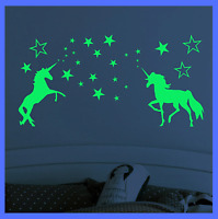 Glow In The Dark Stars Unicorn Decal Luminous Wall Stickers Kids Room Home Decor