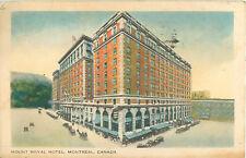 Mount Royal Hotel Montreal Canada Postcard 1956 Montreal Postmark