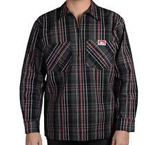 Ben Davis Long Sleeve Plaid 1/2 Zip Work Shirt