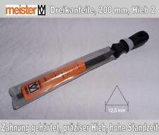 Meister Feile, Dreikantfeile, Sägefeile, 200 mm, Hieb 2, mittelfein