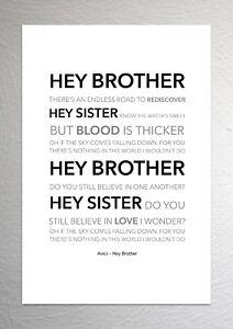 Avicii - Hey Brother - Colour Print Poster Art