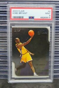 2003-04 Fleer Flair Kobe Bryant #4 PSA 9 MINT Lakers D306