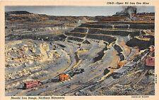 Minnesota postcard Open Pit Ore Mine Mesabi Iron Range Northern Minnesota mining