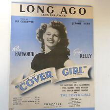 """Canción Hoja hace mucho tiempo """"chica de tapa"""" Rita Hayworth 1944"""