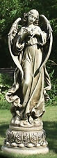 "46.75""H Angel With Dove On Pedestal Outdoor Garden Statue Joseph's Studio #47624"