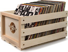 Record Storage Crate Holds Up To 75 Albums, Natural
