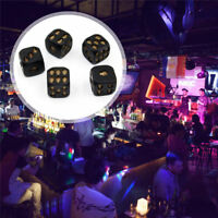 5pcs Skull Game Dice Set Heavy Metal Polyhedral Dice Playing Game Set Black