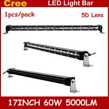 5D+ 17inch 60W Single Row CREE LED Light Bar Super Slim CREE Fog Driving 18/19''
