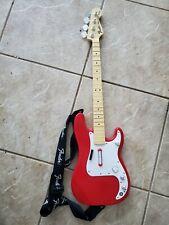 Xbox 360 Rock Band Fender Precision Bass Guitar Harmonix wireless controller