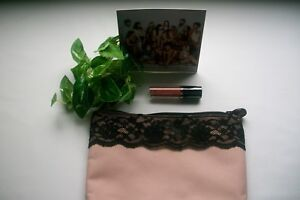 Ipsy DOUCCE Lip Stain Holiday Getaway Glam Bag ~ Blush w/Black Lace