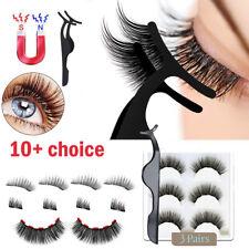 3Paare magnetische Wimpern mit 1 Stück magnetischem Eyeliner und Pinzettenset