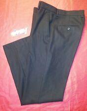 HYUNDAI MOTORS DEALERSHIP Men 34x30 Flat front JET BLACK GOLF Dress WORK Pants