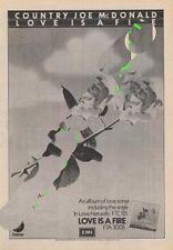 Country Joe McDonald LP advert ZigZag Clipping 1976
