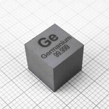 10mm Germanium Metal Cube 99.999% 5.3grams Element Ge Specimen