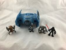 Star Wars - Galactic Heroes - Lot - Darth Vader Tie Fighter + 4 Figures