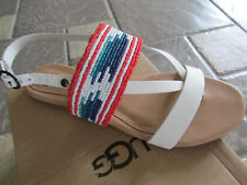 NEW UGG VERONA SERAPE STRAPPY BEADED SANDALS WOMENS 7.5  FREE SHIP!