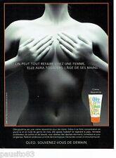 PUBLICITE ADVERTISING  116  1997   Oleo  creme pour mains  seins nus