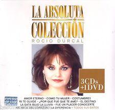 3 CD's / 1 DVD COMBO - La Absoluta Coleccion CD Rocio Durcal 80 Canciones NEW