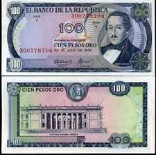 COLOMBIA 100 PESOS ORO 1974 P 415 UNC-