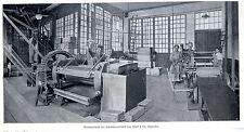 Maschinenhalle der Schallplattenfabrik von Schiff & Co.Schwechat * 1908