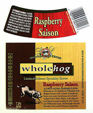 Stevens Point Brewery RASPBERRY SAISON beer label WI 12oz Limited Release