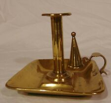 Brass Candleholder Taper Stand Push Up Candle Snuffer Tray