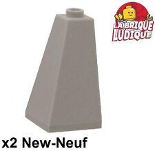 Lego - 2x slope brique pente incliné 75 2x2x3 convex light bluish gray 3685 NEUF