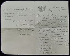 Glass Magic Lantern Slide LETTER FROM MAYOR OF LONDON TO STOCKPORT 1897 PHOTO
