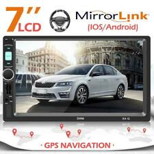 7'' Autoradio Navigation mit Doppel 2DIN GPS Navi Bluetooth USB MP5 FM Player