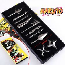 USA Anime Naruto Uzumaki Kakashi Weapon Set Pendant Cosplay Props Collection