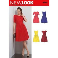 NL6391 Misses Dresses Sizes 8-18 New Look Sewing Pattern