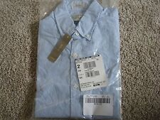 new J. CREW Men Secret Wash short-sleeve shirt in blue item F6064 S