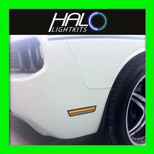 2008-2014 ORACLE DODGE CHALLENGER CONCEPT TINTED/SMOKED LED SIDEMARKERS