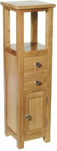 Tall Side Table Small Hall Cabinet Lamp Telephone Stand Slim Wooden Cupboard