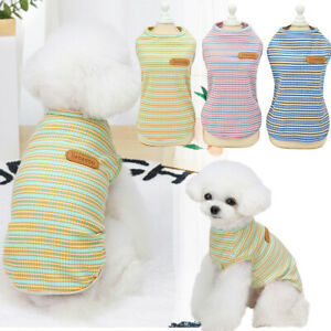 Haustier Hund Katze Kleidung Sommer Welpe T-Shirt Kleidung Kleine Hunde Weste DE