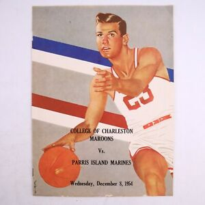 Vintage College of Charleston Basketball 1954-1955 Roster Schedule Team Booklet