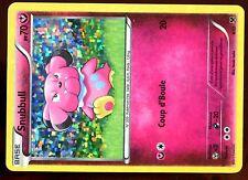 PROMO POKEMON CARD FRANCAISE MAC DONALD N&B 2014 HOLO N°  8/12 SNUBBULL .... (2)