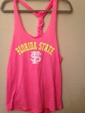 Florida State Seminoles NCAA Women's Shake Braided Tank Hot Pink XL