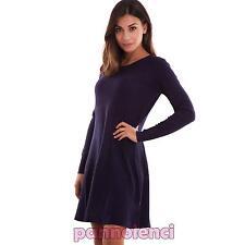 Vestido de mujer minivestido abocinada grande elástico manga larga halar R2166