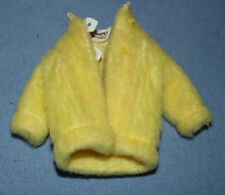 Vintage Barbie Skipper's Yellow Plush Faux Fur Coat Sears 1970 YOUNG IDEAS VGC