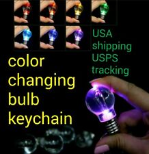 LED Changing Colors LIGHT BULB Key Chain Ring KEYCHAIN NEW