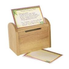 Fox Run New Wooden Recipe Card Box Holder Keeper File Kitchen 300 Recipe Cards