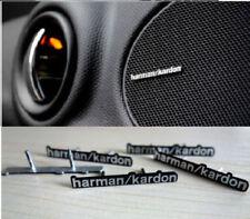 4 x ALUMINIUM HARMAN KARDON PIN Speaker Logo Emblem Badge Sticker MINI M AUDI