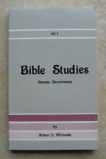Bible Studies Genesis - Deuteronomy ~ R L Whiteside Church of Christ ~ Like New!