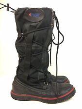 Pajar Women's Grip Boots Size 9-9.5 Black Waterproof Memory Foam Insole Lace Up